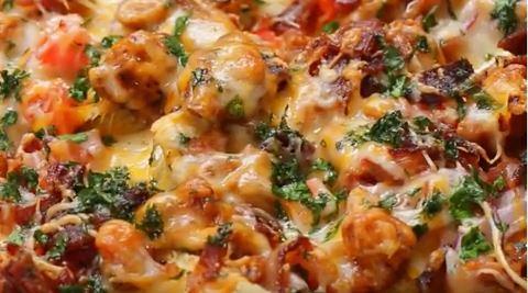 recept bbq chicken nachos