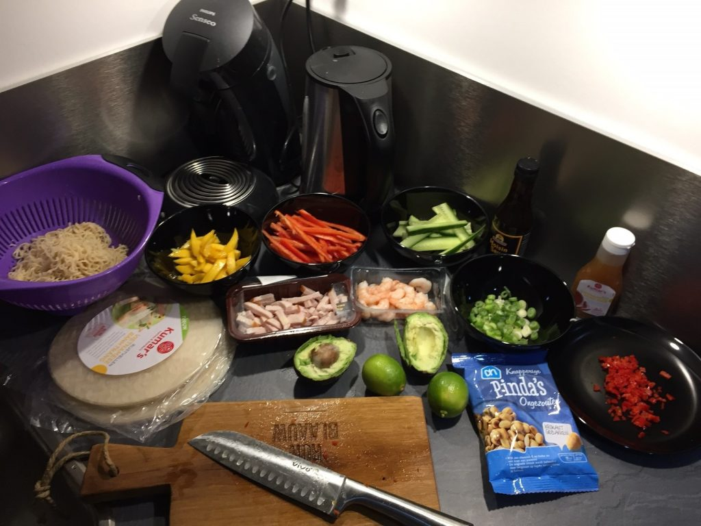 spring rolls maken ingredienten