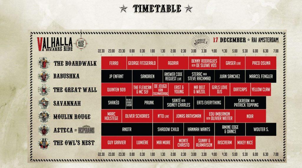 timetable valhalla 2016