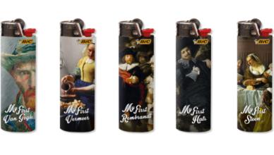 BIC aanstekers met kunstgeschiedenis