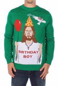 de foute kersttrui birthday boy