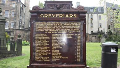 greyfriairs kirkyard in schotland