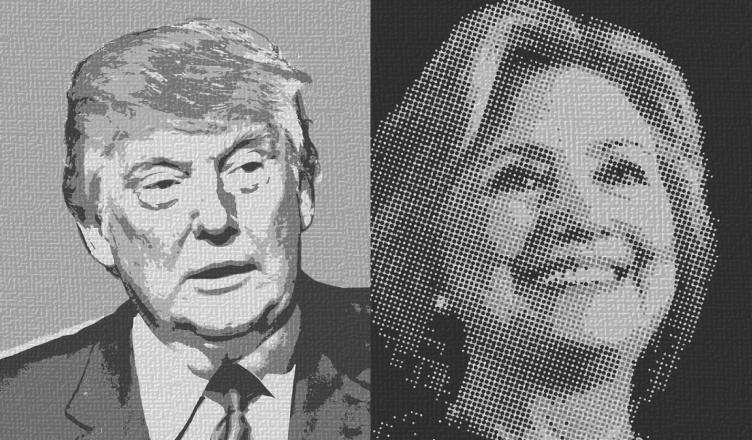 het verschil tussen trump en clinton