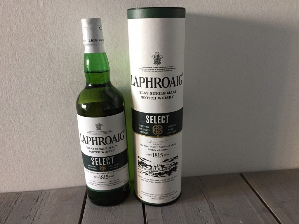 peated malt whisky laphroaig fles
